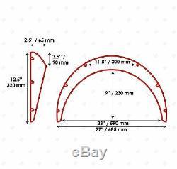 JDM Fender Flares UNIVERSAL Wheel arch SET 2.5 wide 4 pieces