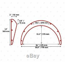JDM Fender Flares UNIVERSAL Wheel arch SET 2 wide 50MM