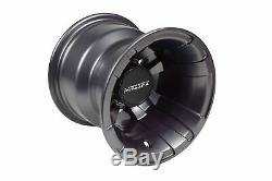 MASSFX Front 10 & Rear 9 Rim GunMetal 10x5 4/156 & 9x8 4/115 Wheels & Lug Nuts