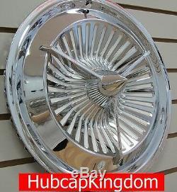 NEW 15 POLARA JET Style 3-Bar Custom Spinner Hubcaps Wheelcover SET