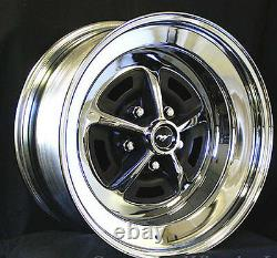 NEW! Ford Mustang Magnum 500 Wheels 15 x 8 Set of Complete With Caps Nuts