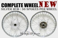 New Honda Trail Ct90 Ct200 Front-rear Wheel Rim + Hub + Spoke F7s+r4.1s