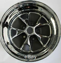 New! Mustang Style Styled Steel GT Wheels 15 x 7 Set of Complete With Caps, Nuts