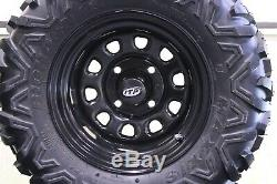 Polaris Rzr 170 23 Bighorn Radial Atv Tire Itp Black Atv Wheel Kit Srad