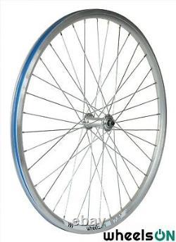 QR 650b 27.5 inch Front and Rear Wheel Set Bike Silver 8 Spd Shimano Cassette