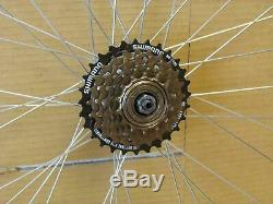 QR 700c Road Racing Bike Front Rear Wheel Set 6/7/8 Speed Freewheel Shimano