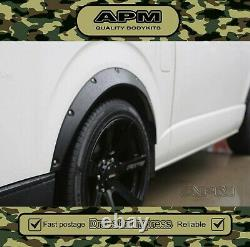 Quality Fender Guard Wheel Flare Suit Toyota Hiace Van 2004-2018, Front&Rear/837
