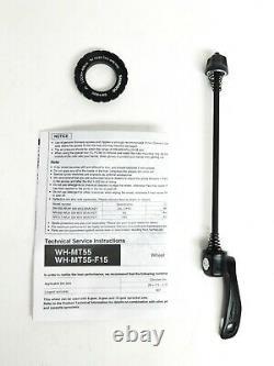Shimano MT55 26 MTB Wheelset CL Disc Brake Wheels 15mm Front QR Rear Black 897