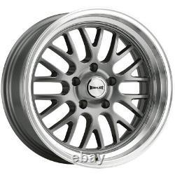 Staggered-Ridler 607 Front18x8, Rear18x9.5 5x4.75 +0mm Gunmetal Wheels Rims
