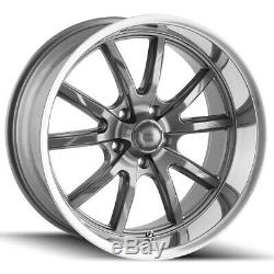 Staggered Ridler 650 Front18x8, Rear18x9.5 5x4.5 +0mm Gunmetal Wheels Rims