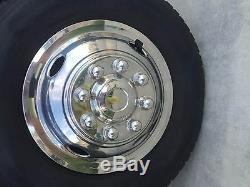 Steel Chevy GMC 16 8 Lug Dual Wheel Simulators Dually Rim Skins Liners Covers