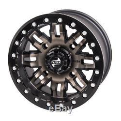 Tusk Tire / Wheel Kit Terrabite 30x10-14 Mounted Beadlocks RZR XP 1000 Turbo