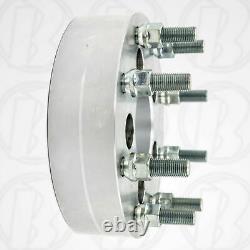 USA MADE 5 to 8 lug Wheel Adapters 2 Spacers Dodge 5x5.5 to 8x6.5 9/16 Stud