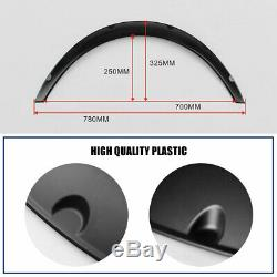 Universal 4pcs 2/50mm Fender Flares JDM Over Wide Body Wheel Arches PP