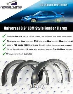 Universal JDM Fender Flares over wide body Concave wheel arches ABS 100mm 4Pcs