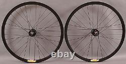 Velocity Deep V ALL BLACK Fixed Gear Track Bike Singlespeed Wheelset Wheels