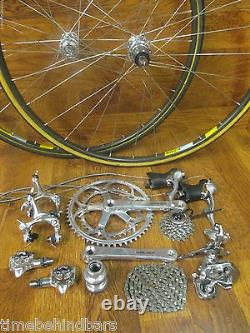 Vintage Original Shimano Dura Ace 8 Speed Group Gruppo Build Kit Mavic Wheels
