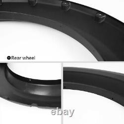 Wheel Fender Flares Fit For 2009-2014 Ford F150 Offroad Pocket Rivet Style Black