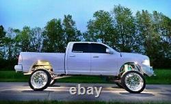 White Single LED Illuminated Car Truck Wheel Rings For 19 Wheels Or Larger