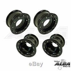 YFZ 450 450R Front Rear Wheels Beadlock 10x5 and 9x8 Alba Racing B/B 41