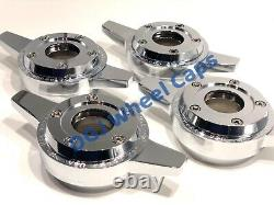 Zenith Locking Style Cut Chrome Knock-Off Spinner Cap for Lowrider Wire Wheels